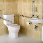 M Pack Bathroom accessories - grab rails and a raised toilet