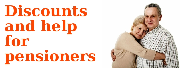 Discounts and help for pensioners