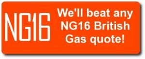 We'll beat any NG16 British Gas quote