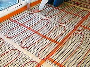 Fitting electric underfloor heating