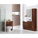 Nabis walnut bathroom units