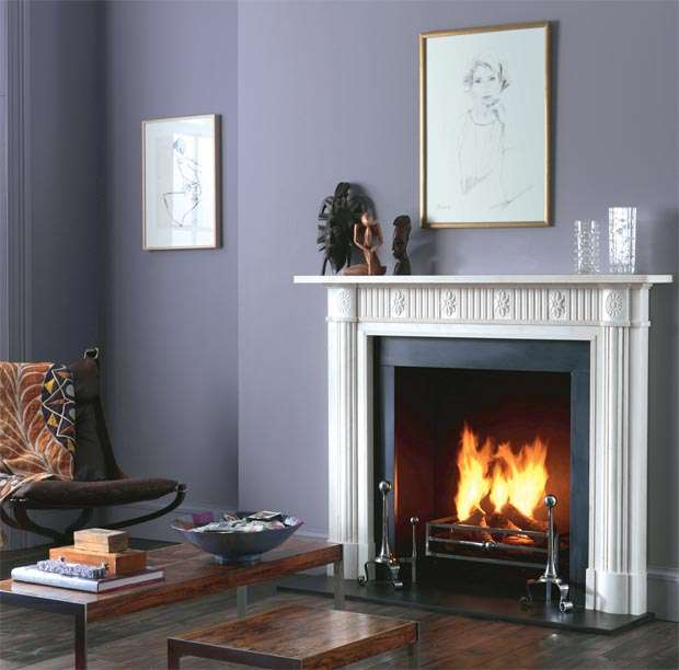 Real fire and fire surround
